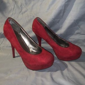 Deep Red Swede Pumps